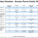 2014 holiday schedule revised