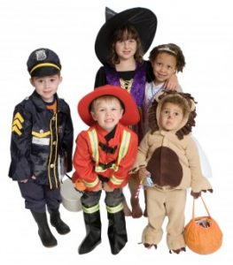 halloween kids dressed up