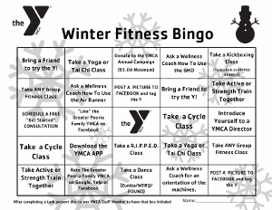 Winter Fitness Bingo